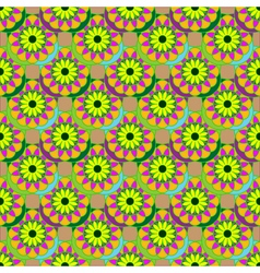 New colorful fractal flower on four leaves vector