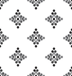 Ornament seamless rhombuses and circles vector