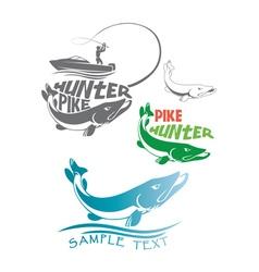 Pike fish logo vector