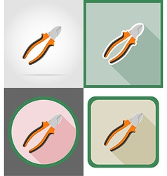 repair tools flat icons 04 vector image