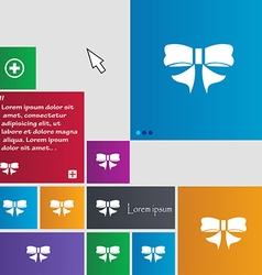 Ribbon Bow icon sign buttons Modern interface vector image vector image