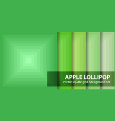 Square pattern set apple lollipop seamless vector