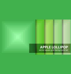 Square pattern set apple lollipop seamless vector