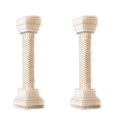 Stylized greek doodle pillar column doric ionic vector