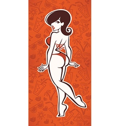 summer pinup vector image vector image