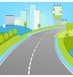 02 road landscape vector