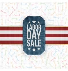 Labor day sale patriotic label with shadow vector