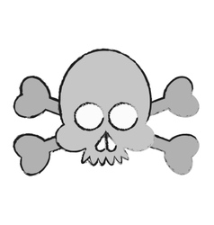Isolated skull cartoon design vector