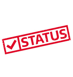 Status rubber stamp vector