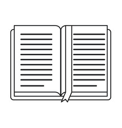Open book school learning library thin line vector