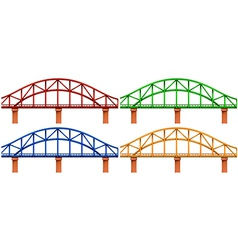 Four colorful bridges vector