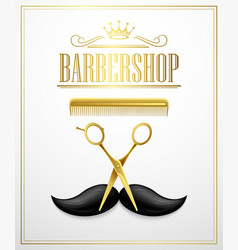 Poster barbershop welcome vector