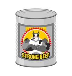 Canned meat beef canned food from a serious and vector