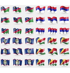 Namibia republika srpska belize seychelles set of vector