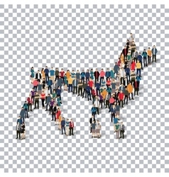 wolf people 3d vector image