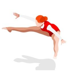 Gymnastics trampolining 2016 sports 3d vector