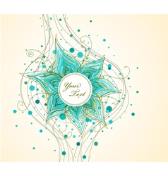Abstract background with hand drawn flower vector