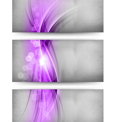 Abstract three card purple vector