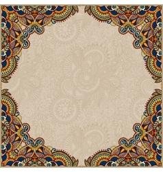 Beige colour floral vintage frame vector