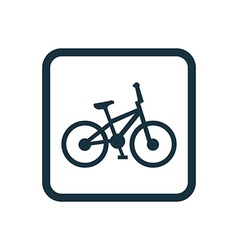 bike icon Rounded squares button vector image