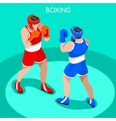 Boxing 2016 summer games 3d isometric vector