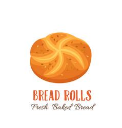 Bread rolls icon vector