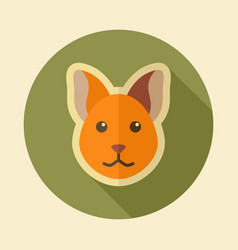 Cat flat icon animal head vector