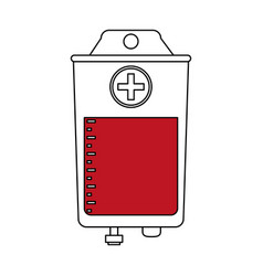 Color silhouette image bag for blood donation vector