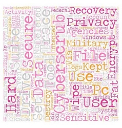 CyberScrub Privacy Suite text background wordcloud vector image