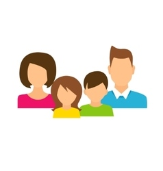 Family members avatars in flat style vector image