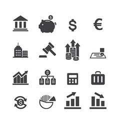 finance icon vector image