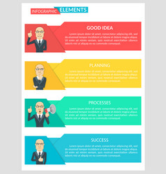 Flat design infographic business template vector