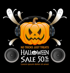 Halloween sale background vector