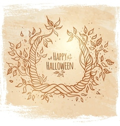 Hallowen card vector image