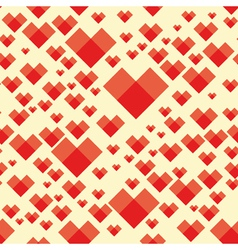 heart background seamless vector image vector image