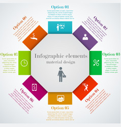 Hexagon infographic elements vector image vector image