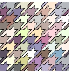 Hounds-tooth patterns with black stroke vector