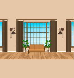 Living room interior modern design light loft vector