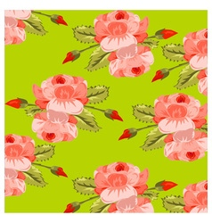 pattern roses vector image vector image