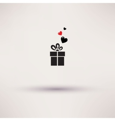 Pictograph of gift icon Template design vector image