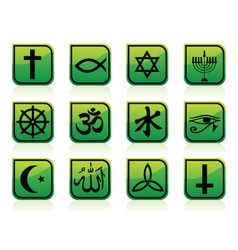 religious signs vector image vector image