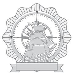 ship badges vector image