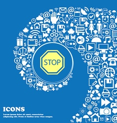 Stop sign icon Nice set of beautiful icons vector image