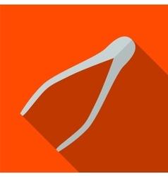 Tweezers flat icon vector