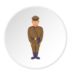 Soldiers in uniform with bag icon cartoon style vector