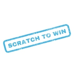 Scratch to win rubber stamp vector