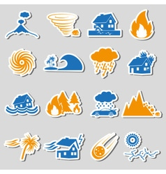 Various natural disasters problems in the world vector