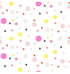 Confetti seamless white background vector