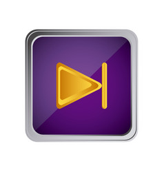 Forward button icon with background purple vector