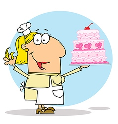 Cartoon cake maker vector